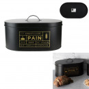 black matte metal bread box, 1- times assorted