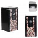 embossed metal rice box