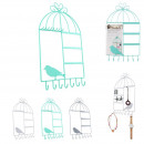wholesale Jewelry & Watches: Cage bird jewelry holder, 3-fold assorted