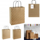 Kraft gift bag 23x28x10cm, 2 -times assorted