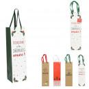 gift bag bottle 10.5x10.5x36cm, 4-times assort