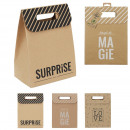 wholesale Bags & Travel accessories: foldable kraft pouch 20x12x27cm, 3- times assorted