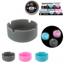silicone ashtray Glow, 3-times assorted