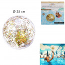 inflatable ball with glitter golden 35cm