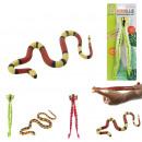 hurtownia Zabawki: żaba rozszerzalny wąż 3m, 4-krotny mieszany