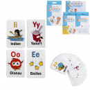 Educational card words 8x12cm white, 1-fold assort