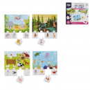 Game of educational memory animals x20 pcs, 1-time