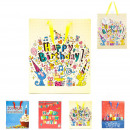 happy birthday bags, 4-times assorted