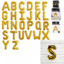wholesale Sports & Leisure: foil balloon letter 35cm gold, 26- times assorted
