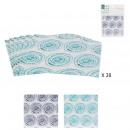 towel disposable x20 33x33cm blue lagoon, 2-fold