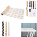 wholesale Table Linen: organza table runner 28cm 4m mirage, 3-fold ass