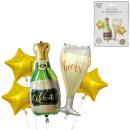 globo de lámina de champán x4