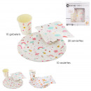 birthday set x40 accessories, 2- times assorted
