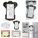 Memo magnet shopping list, 4-fold assorted
