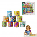 Box 1000 stickers, 1-fold assorted