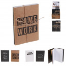 Großhandel Geschäftsausstattung: A6 Notebook x2 glücklich arbeiten, 2-fach ...