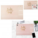escritorio, papel, dama, jefe