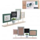 cadre photo x3 avec plante artficielle