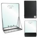 mirror tablet chain metal black
