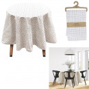 round tablecloth grid 180cm