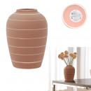 terracotta-colored vase