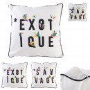 Pillow 40x40cm exotic, 2- times assorted