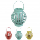 wholesale Wind Lights & Lanterns: exotic wild metal lantern, 3- times assorted