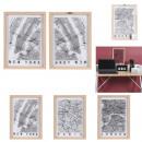 wholesale Decoration: decorative frame london paris new-york, 3-fold ass