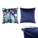 Pillow peacock print 40x40cm