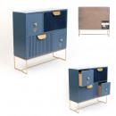 Miejsce na 4 szuflady aksamit niebieski