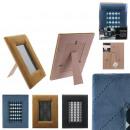 Großhandel Bilder & Rahmen: Bilderrahmen Samt 10x15cm, 3- fach sortiert