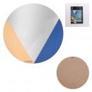 miroir tricolore rond 40x40cm