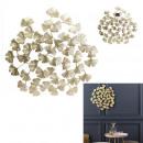 groothandel Woondecoratie: wanddecoratie bloemen metaal goud