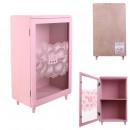 wholesale Figures & Sculptures: storage cupboard with pink shelf 24x40x14.5cm