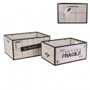 groothandel Woondecoratie: houten en metalen berichtenbox x2