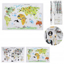 wholesale Wall Tattoos: world map wall sticker 90x60cm, 2- times assorted
