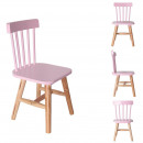 Wooden pink child chair, 1-fold assorted