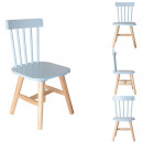 Blue wooden child chair, 1-fold assorted