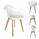 Scandinavian child white armchair, 1-fold assorted
