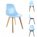 Scandinavian chair child pp blue, 1-times as