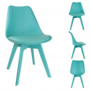 Full color blue chair, 1-fold assorted