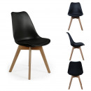 Scandinavian chair pp with Pillow black, 1-f
