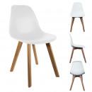 Scandinavische stoel shell witte pp, eenmalige gea