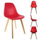 krzesło skandynawskie czerwona skorupa pp, 1- razy