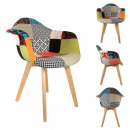 Patchwork scandinavian armchair, 1-fold assorted