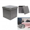 Storage foldable pouf gray, 1-fold assorted