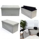 Storage bench folding bench light gray, 1-fold