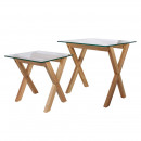nesting tables tempered glass square board x2, 1-f