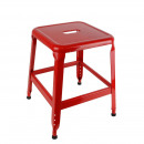 Stool metal red pm, 1-fold assorted
