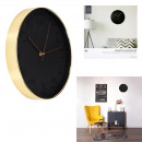 wholesale Clocks & Alarm Clocks: Clock round 30.5cm black copper, 1-fold assorted